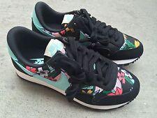 Nike Womens Air Pegasus 83 Print Sz 5.5 Black Teal Sail New Floral Aloha