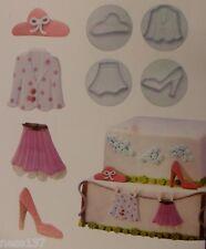 4 Emporte Pieces Décor garde Robe Fille Patisserie Gateau Cupcakes Cake Sablé