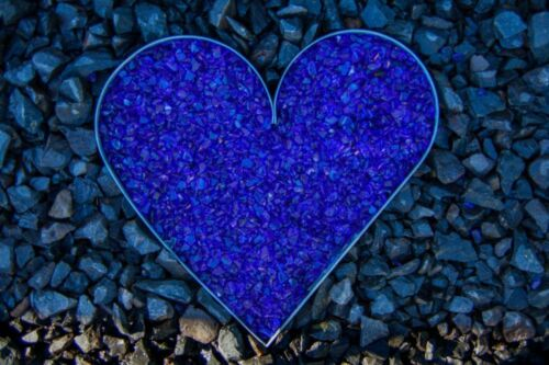 Gartendekoration Glassplitt Glasbruch kobaltblau Glass stone violett blue 5-10mm