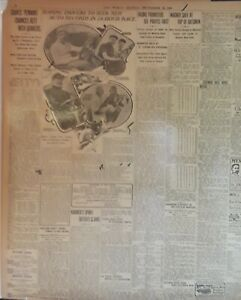 1908 Vintage Newspaper Hans Wagner Mike Conlin Ty Cobb Top Batmen-Auto Car Race