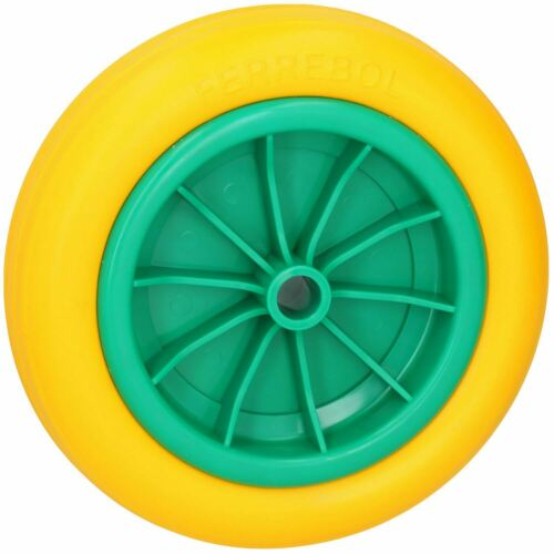 """10"""" Solid Rubber Tyre For Sack Trucks Wheel Barrows Trolleys 20mm Centre"""