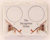 Sacagawea Dollar P & D, 2x3 Snap Lock Coin Holders, 3 Pack