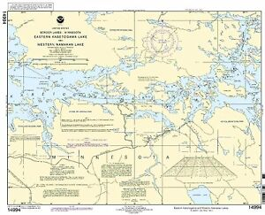NOAA Chart Namakan Lake, Western Part and Kabetogama Lake, Eastern part