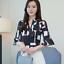 Verano-para-mujer-Floral-Casual-de-Gasa-Manga-a-Mitad-de-Superdry-holgado-Camiseta-Blusa-Camiseta miniatura 10