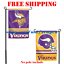 Minnesota-Vikings-Logo-Garden-Outdoor-Flag-Double-Sides-12x18-034-NFL-2019-Fan-NEW thumbnail 1