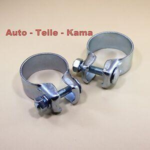 2-x-Auspuffschelle-Montageschelle-Bandschelle-fuer-Abgasanlage-50-5-mm
