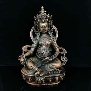 8-7-034-Collect-Tibetan-Buddhism-Bronze-Yellow-Jambhala-Wealth-God-Buddha-Statue