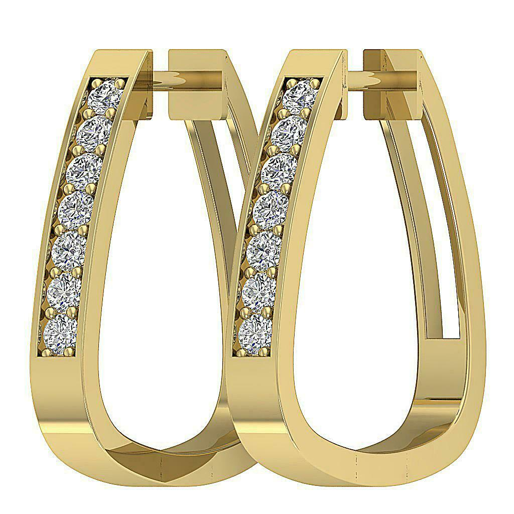 309d14538cc1a 14K Ct 0.50 Diamond Genuine E VS1 gold Solid Appraisal Earrings ...