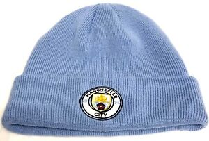 Manchester City Hat Bronx Sky Blue knitted Hat official Football Club ... a03bfa9607f