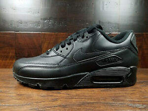 Details about Nike Air Max 90 Leather (Black) [302519-001] Mens Running 8-13