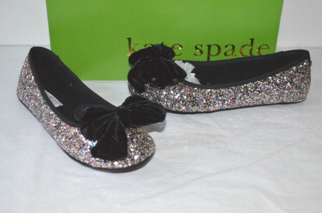 b2cc3628ba55 New  78 kate spade New York Sussex Multi Plush Glitter Ballet Flats Slipper