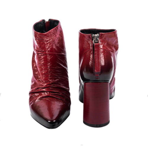 HALMANERA Low Boot Rot Glänzend 100/% Leder Giovi 09 Made IN Italy