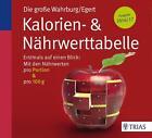 Die große Wahrburg/Egert Kalorien-&-Nährwerttabelle von Sarah Egert und Ursel Wahrburg (2015, Taschenbuch)