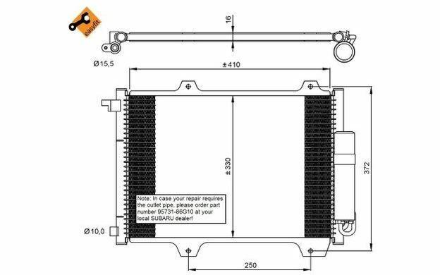 NRF Condenseur de climatisation pour SUZUKI IGNIS 35907 - Mister Auto
