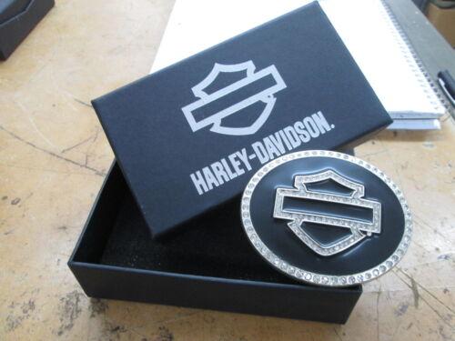 New Harley Davidson Lodis Crystal Bar /& Shield B/&S on Black Buckle HDWBU10085