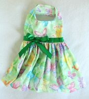Xxxs Spring Green Butterfly Dog Dress Clothes Pet Clothing Apparel Teacup