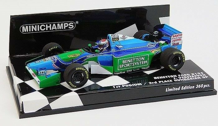 Minichamps 1:43 Benetton B194 1st Podium Hungarian F1 GP 1994 Verstappen LE/360