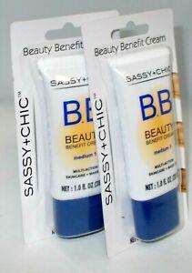 2 SASSY + CHIC B.b. Beauty Benefit Cream Multi-Action SkinCare MEDIUM 1 NIP