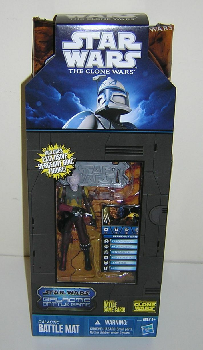 Star Wars Clone Wars CW Sergeant Bric Galactic Battle Mat Mail Away EXCLUSIVE