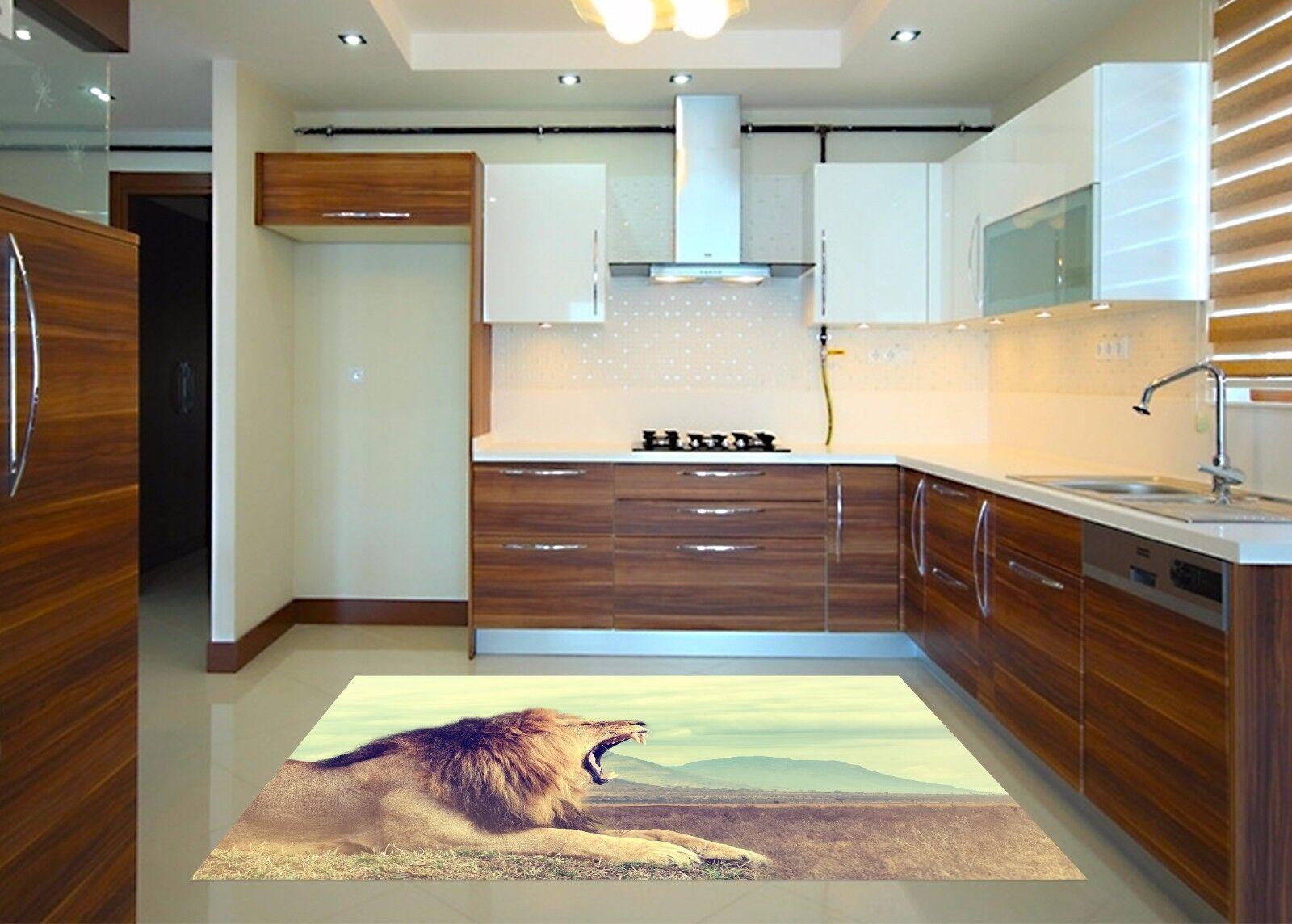 3D Prairie Lion 9 Kitchen Mat Floor Murals Wall Print Wall AJ WALLPAPER AU Carly