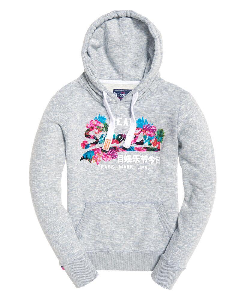 damen Superdry Vintage Logo Tropical Hoodie sweatshirt hoody