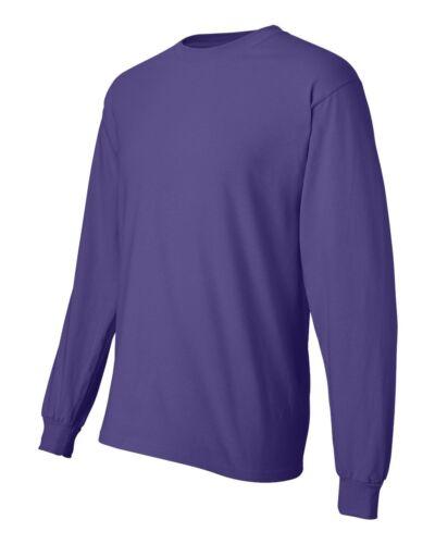 NEW Hanes Mens 100/% Cotton Long Sleeve Beefy-T T-Shirt Tee S M L XL 2XL 3XL 5186