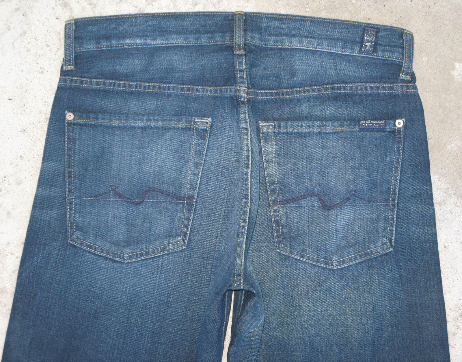 7 For all Mankind Men's Relaxed Jeans Sz 31 X 32 Distressed 100% Cotton