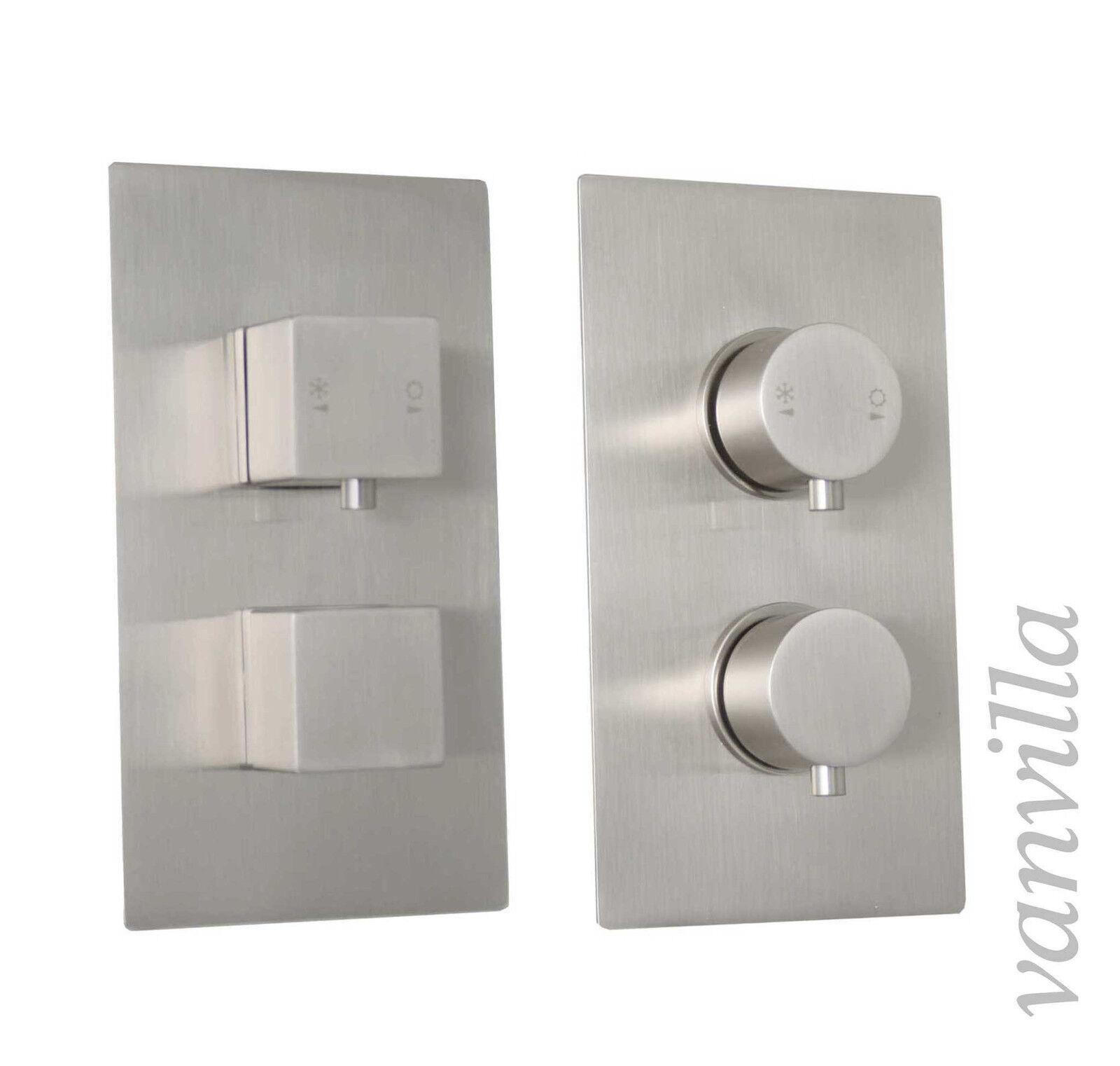Vanvilla Design Thermostat Unterputz Armatur Duscharmatur gebürstet oder poliert