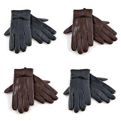 Women Ladies Winter Premium Quality Warm Thermal Fur Lined Pom Pom Fleece Gloves