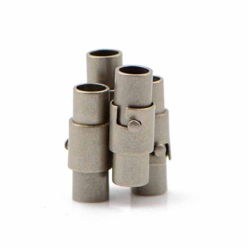 4X 4mm magnetic clasps stainless steel magnetic clasps with safe snap lock CA
