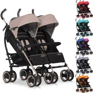 Geschwisterkinderwagen-DUO-COMFORT-Baby-Zwillingsbuggy-Sportwagen-klappbar