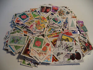 (07) 1500+ Flower, Tree & Fruit Stamps Good Condition, Some Heavy Duplication
