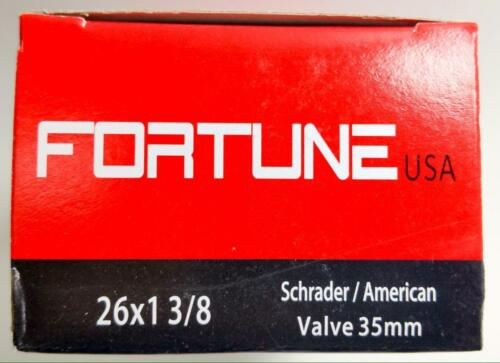 "1 Inner Tube 26x1-3//8 Varsity American Schrader Regular Valve 26/"" 1-3//8/"" inch"