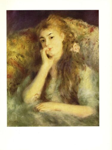 "1960 Vintage RENOIR /""PORTRAIT OF A GIRL/"" LOVELY COLOR offset Lithograph"