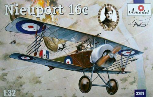 Biplane model kit Amodel 3201 Nieuport 16C 1//32 scale plastic A134