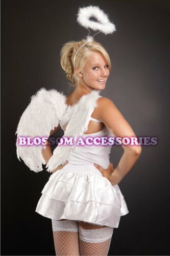 204 Ladies White Angel Fancy Dress Costume Inc Wing