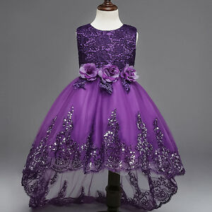 Flower Girls Dress Princess Party Pageant Wedding Bridesmaid Formal Gown Dresses