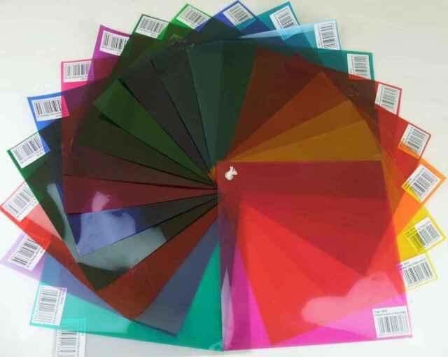 20 St. PAR 64 / PAR 56 Farbfolien 24x24cm Farbfilter im Colour-Mix-Set Farbfolie