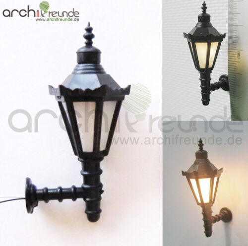 2 x LED Wall Lamp Wall Light 4,5cm Model 1:25 Model Railway Track G
