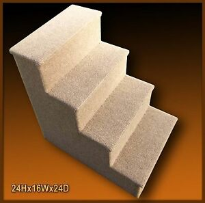 Tall wooden dog steps, pet stairs. Animal Steps Ladder.