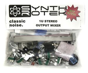 Synthrotek 1U Stereo Output Mixer Eurorack Module DIY Kit