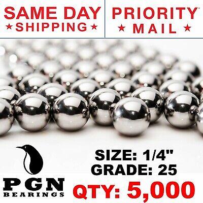 "5000 1//4/"" Inch G25 Precision Chromium Chrome Steel Bearing Balls AISI 52100"