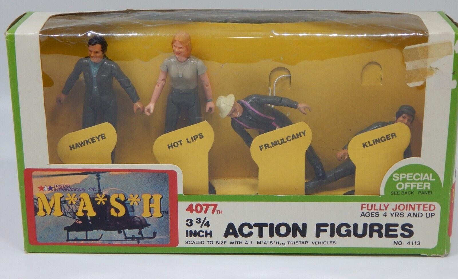 compra limitada Raro 1982 Vintage TriEstrella TriEstrella TriEstrella Mash 4 Acción Figura Set 4077th M.A.S.H. Menta en caja Klinger +  Más asequible