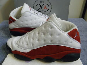 bc19c625b91 Nike Air Jordan XIII 13 Retro White Red Cherry sz 10.5 LOW 2005 Ray ...