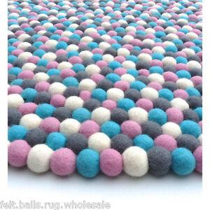 200 Cm Woolen Pom Felt Round