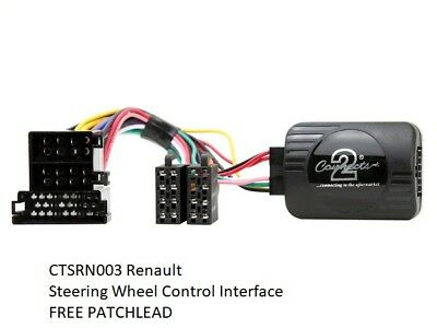 RENAULRT CLIO 2000-2005 STEERING WEEL CONTROL INTERFACE & FREE PATCH LEAD