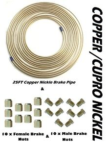 25ft-Copper-Nickel-Brake-Pipe-amp-Nuts-10-x-MALE-10-x-FEMALE-for-3-16-034-pipe-Metric