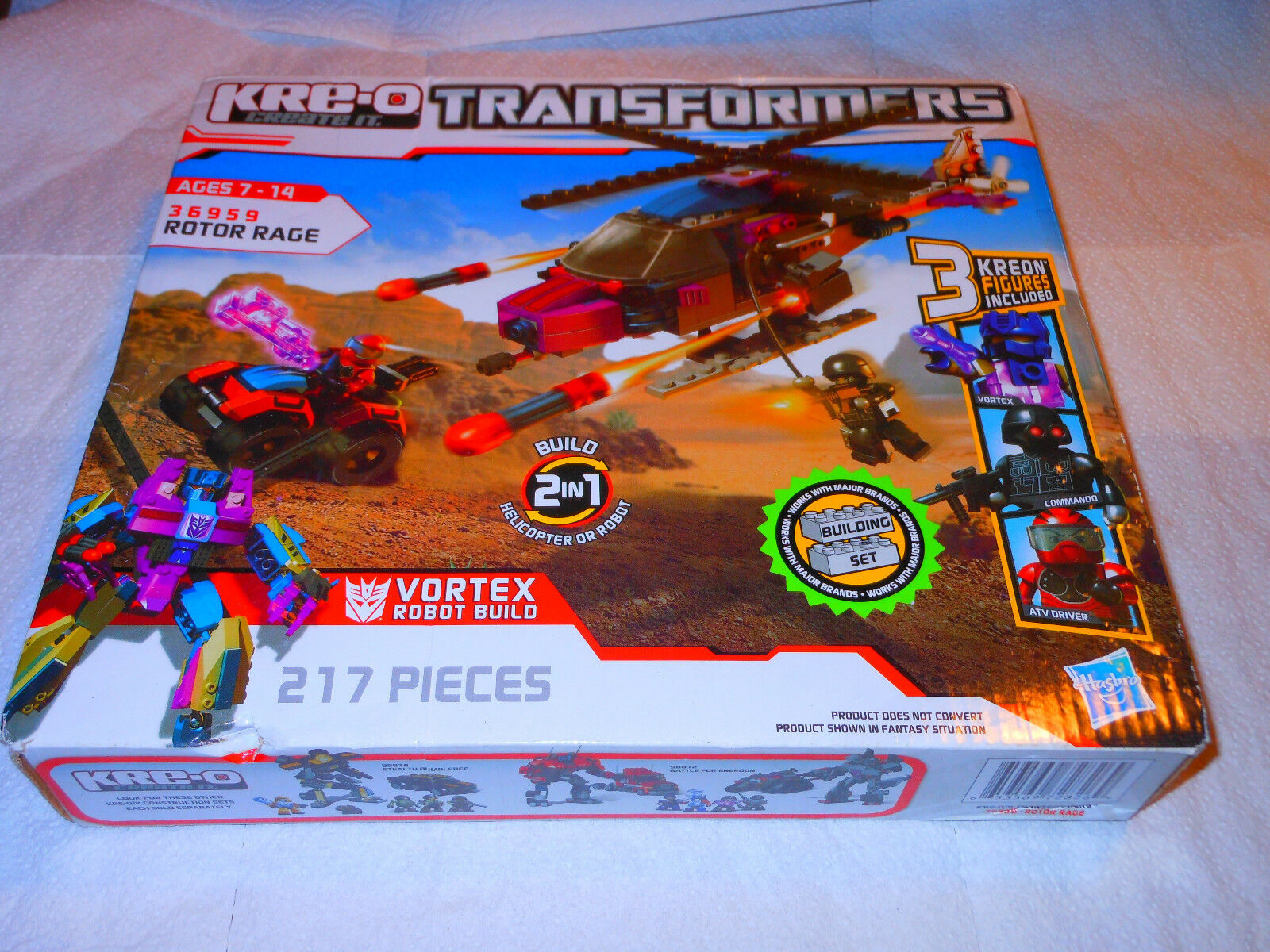 KRE-O 36959 Transformers redor Rage 217 Pieces Ages 7-14 NEW NEW NEW 8fafce