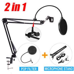 Mic-Desktop-Microphone-Suspension-Stand-Studio-Broadcast-Boom-Scissor-Arm-Hold-A