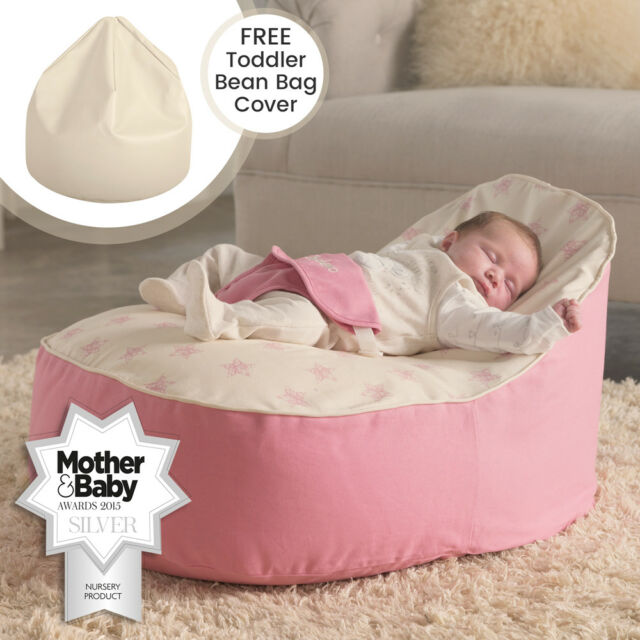 Admirable Bambeano Baby Bean Bag Support Chair Pink With My 1St Bag Cover Ibusinesslaw Wood Chair Design Ideas Ibusinesslaworg